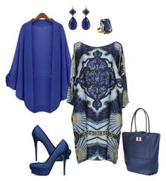 """""""Blue"""" by bgf712 ❤ liked on Polyvore featuring Emilio Pucci, Yves Saint Laurent and Larkspur & Hawk"""