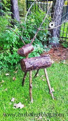 Outdoor Wood Deer