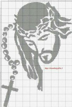 Filet Filet Crochet Charts, Crochet Cross, Cross Stitching, Cross Stitch Embroidery, Religious Cross Stitch Patterns, Fillet Crochet, Cross Stitch Pictures, Cross Stitch Heart, Plastic Canvas Patterns