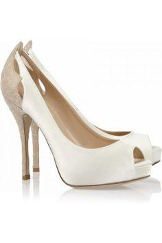 Zapatos de Novia para Bodas estilo Peep Toes de Valentino. Wedding Shoes