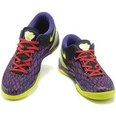www.asneakers4u.com/ Nike Kobe 8 System Basketball Shoe Snake Purple/Green/Yellow0