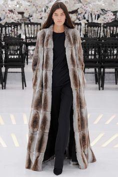 Christian Dior Fall 2014 Couture Fashion Show - Liene Podina. long winter coat…
