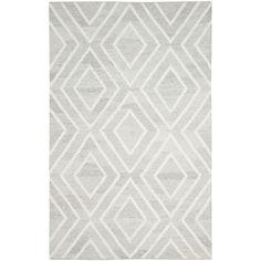 Safavieh Hand-Woven Kilim Ivory/ Dark Grey Viscose Rug (5' x 8 ...