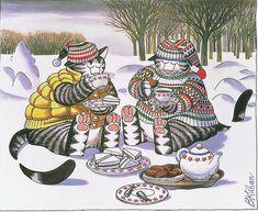 Cat Tea--I always buy the Kliban calendars.