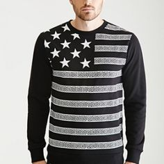 Star And Meander Print Sweatshirt via ShopBuy for iPhone