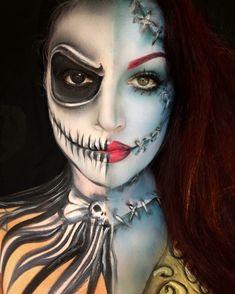 travestimento-halloween-donna-metà-scheletro-sugar-skull