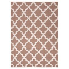 Flat-woven wool rug with a Moroccan-inspired motif.    Product: RugConstruction Material: 100% WoolColor: ...