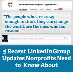 5 Recent LinkedIn Group Updates Nonprofits Need to Know About