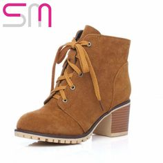Find More Women's Boots Information about 4 Colors Plus Size 34 43 Vintage Lace up Ankle Boots for Lady's Thick High Heels Less Platform Shoes Woman Spring Fall Boots,High Quality lace up suede boots,China boots spring Suppliers, Cheap lace purse from Snow man Co.,Ltd. on Aliexpress.com
