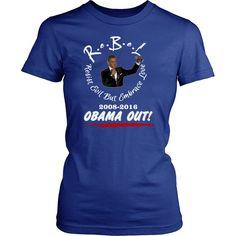 R.e.B.e.L Styles Obama Out Edition WHT Script (Women)