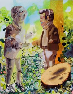 Dana Schutz  Time Traveler, 2007  Oil on canvas  94 x 72 inches  238.8 x 182.9 cm