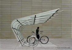 Estacionamiento para bicis.