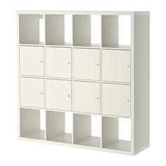 KALLAX Shelving unit with 8 inserts, white white 147x147 cm