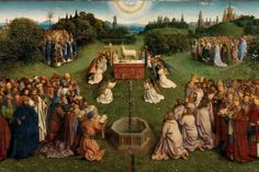 Adoration of the Mystic Lamb by the Van Eyck brothers