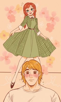 Kristoff blushed when he saw Anna in her new dress and is impressed of how beautiful she looked from Frozen Frozen Fan Art, Frozen And Tangled, Frozen Elsa And Anna, Disney Frozen, Frozen Anime, Cute Disney Drawings, Disney Princess Drawings, Disney Princess Pictures, Princess Disney