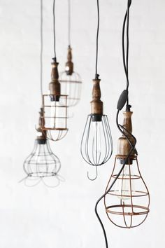 Lighting idea. Nice industrial pieces can be found by dealers on Etsy.