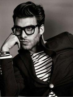 those glasses // menswear, mens style, fashion, stripes, nautical, preppy, blazer, haircut, hairstyle, hair cut style