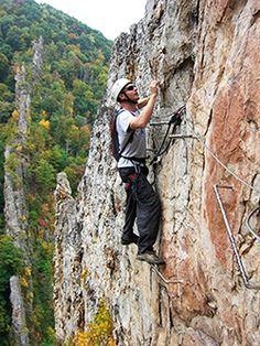 Wish list: Climb the Via Ferrata at Nelson Rocks in West Virginia