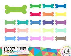 Bone Clipart, Chew Toy Clipart, Dog Toy Clipart, Bones Clipart, Planner Clipart, Scrapbooking Cliparts