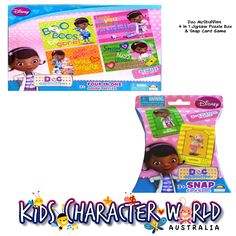 Doc McStuffins 4 in 1 Jigsaw Puzzle Box & Snap Card Game $23.95 (eBay Store: kidscharacterworld2013 email: kidscharacterworld@live.com.au) http://www.ebay.com.au/itm/Doc-McStuffins-Jigsaw-Puzzle-SNAP-Card-Game-2-Pc-Set-Kids-Girls-Licensed-BNIB-/171505745191?pt=AU_Toys_Hobbies_Puzzles&hash=item27ee89fd27