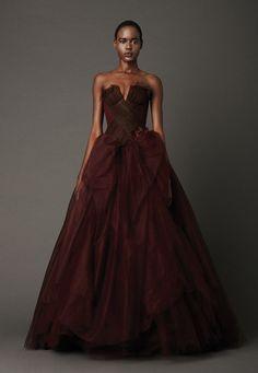 top-10-oxblood-wedding-dresses-2 | WeddingElation