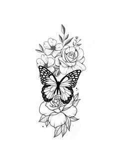 Floral Dainty Tattoos, Dope Tattoos, Pretty Tattoos, Mini Tattoos, Leg Tattoos, Body Art Tattoos, Small Tattoos, Sleeve Tattoos, Tatoos