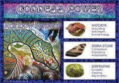 Goddess Power: Rainbow Serpent - Stones: Mookite, Zebra Stone and Serpentine