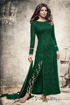 Bottle Green Long straight salwar suit  #salwarsuits #salwarkameez #salwarkameezonline #salwarsuitsonline #churidarsuits #DesignerSalwarSuits #palazzo suits #Salwarkameez #IndianSuits,  #AsianSuits
