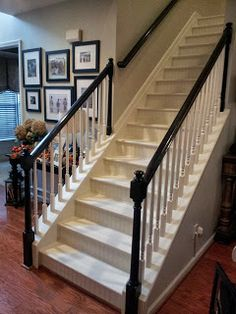 Southern Grace: Staircase Remodel  Painting And Staining