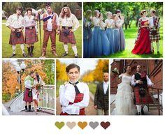Tartan themed wedding
