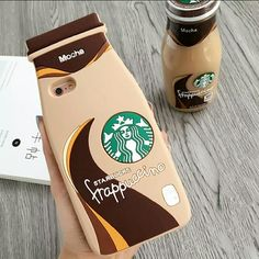 Starbucks Mocha Frappuccino Iphone 6 Case Silicone Phone Case, very cute! Let me know what phone you have and I may be able to get it for you. Accessories Phone Cases
