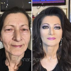 Make Up Artist Makes Clients As Old As 80 Look Decades Younger, Shows Just How Powerful Makeup Is Anar Agakishiev, is a make-up artist from Azerbaijan who has an incredible talent, he is able to make women up to 80 years old look almost half their age. Makeup For 50 Year Old, Makeup For Older Women, Old Makeup, Makeup Tips, Beauty Makeup, Beauty Skin, Makeup Ideas, House Of Lashes, Too Faced