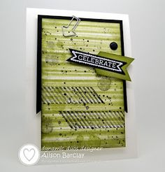 Gothdove Designs - Alison Barclay:  Gorgeous Grunge, Sketched Birthday stamp sets Bouncing Brayer technique   #stampinup #masculinebirthdaycard