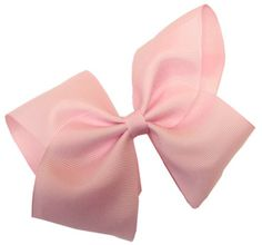 Girls Hair Bows ~ Extra Large GrosGrain Bow with Tied Center on French Clip $2.99 (77% OFF)
