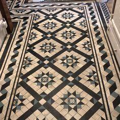 Victorian Floor Tiles from olde english tiles, original features, Original Style and Winckelmans Victorian Hallway Tiles, Victorian Fireplace Tiles, Victorian Flooring, Tiled Hallway, Mosaic Design, Hearth Tiles, Hall Tiles, Porch Tile, Victorian Bath