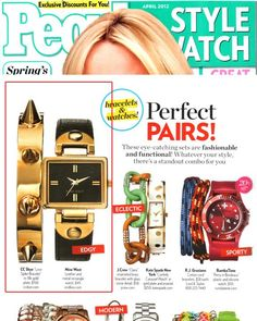 (April 2012) @People StyleWatch: Love Spike Bracelet