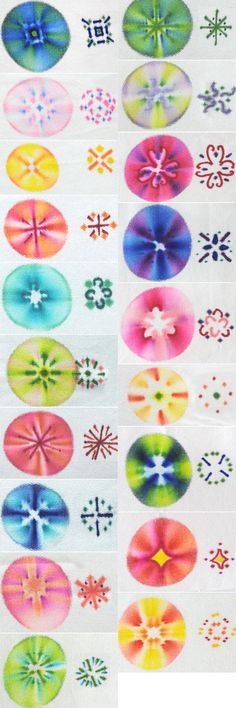 Puntos con sharpies y luego una o dos gotitas de agua oxigenada volumen 40 o mas ...fabric designed using sharpies: patterns