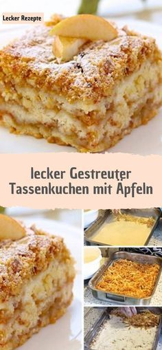 Zzutaten 1 cup soft wheat semolina 1 cup of flour 1 cup of powdered sugar 1 pck. Apple Recipes, Baking Recipes, Cake Recipes, Vegetable Drinks, Healthy Dessert Recipes, Powdered Sugar, Mole, Tray Bakes, Food And Drink