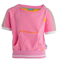 Ninni Vi sweater met korte mouwen. Kan off shoulder gedragen worden - Pink - NummerZestien.eu