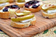 Fruit & Brie Canapes! Yum... Brie! @BrightNest Blog