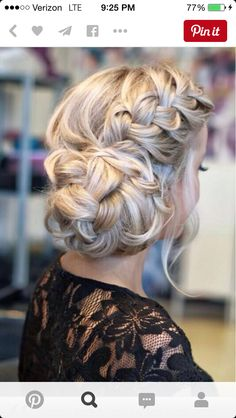 Hairstyle idea if you are interested in an up-do9 for a formal, prom, homecoming.