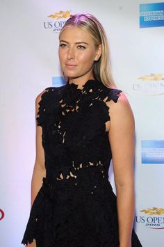 Maria's Twitter: Last nights @americanexpress  beauty look, sleek and modern. #AmexTennis