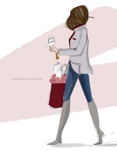 Blazer Season - Autumn - Fashion Illustration - Autumn Art - Autumn Cards - Greeting Cards - - Art for Women - Inspirational Art Pretty Woman, Fashion Art, Autumn Fashion, Only Blazer, Positive Quotes For Women, Megan Hess, Greeting Card Size, Art Inspiration Drawing, Inspiration Quotes