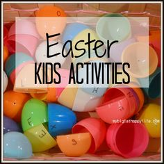 Several fun Easter themed kids activities including learning and lunch inside Easter eggs.