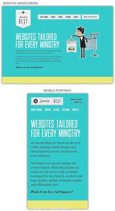Responsive web design example: Sunday Best