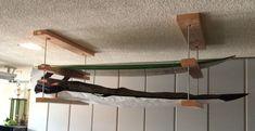 Build A Surfboard 460774605617180824 - simple ceiling surfboard rack More Source by Surfboard Storage, Surfboard Rack, Kayak Storage Rack, Garage Storage, Garage Organization, Surf Room, Surf House, Boat House, Surf Decor