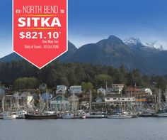 Today's deal: North Bend (OTH) to Sitka (SIT) at just $821.10 (One Way)! Date of Travel - 30th Oct 2016; Visit: www.cheapflightsfares.com
