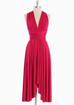Making summer plans early. Fuschia is a hot color this year. Plus this material stretches. Must bookmark this.