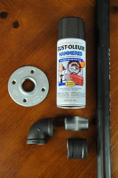 How to make an industrial curtain rod...sounds simple enough!
