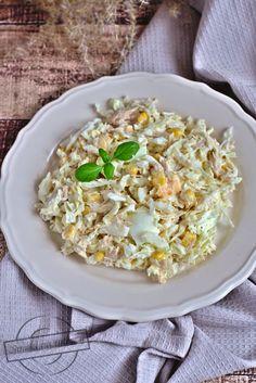 Sałatka z kapustą pekińską i tuńczykiem – Smaki na talerzu Tortellini, Antipasto, Fried Rice, Risotto, Salad Recipes, Fries, Ethnic Recipes, Kitchen, Food